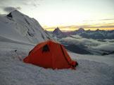 Via Normale Lyskamm - Parete nord - In tenda al colle del Lys