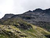 Via Normale Pizzo del Ramulazz - Cima N - A sinistra la Cima N, a destra la Cima S