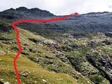Via Normale Piz di Strega - A sinistra il Pizzo del Ramulazz a destra il Piz di Strega