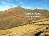 Via Normale Pizzo di Gino - L'itinerario di salita da S