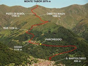 Via Normale Monte Tabòr