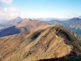 Via Normale Monte Marnotto - La dorsale che collega il Marnotto al Pizzo di Gino, dalla vetta del Marnotto