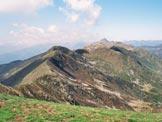 Via Normale Monte Bregagno - Cresta WNW - La cresta che unisce il Bregagno al Pizzo di Gino, dalla vetta