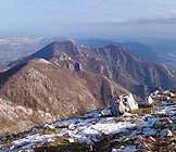 Via Normale Monte Monaco di Gioia - La vicina cima de La Pizzuta (q. 1214 m)