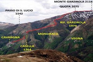 Via Normale Monte Garzirola - da SE