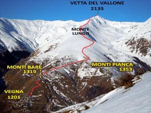 Via Normale Vetta del Vallone