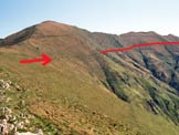 Via Normale Monte Bregagno - Pizzo di Gino - La Cima Pianchette e il sentiero che conduce verso il Bregagno