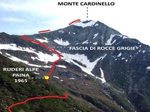Via Normale Monte Cardinello
