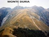 Via Normale Monte Duria - Il Monte Dur�a dal M. la Motta (q. 1515 m)