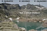 Via Normale Pizzo Forato - Immagine ripresa dal Lago Nero
