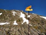 Via Normale Pizzo Galleggione - Il Pizzo Galleggione dal Pass da la Prasgnola