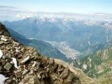 Via Normale Pizzo Galleggione - La piana di Chiavenna dalla vetta