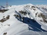 Via Normale Monte Colombine da SE - Vista scendendo dalla cima W del Dasdana