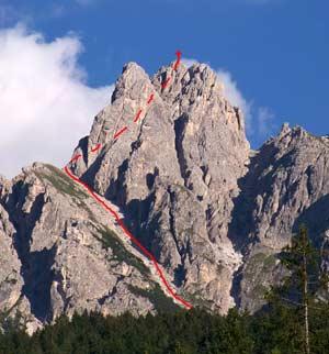 Via Normale Toblacher Neunerkofel - Cima Nove di Dobbiaco