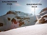 Via Normale Galenstock - Il Galenstock, dall'itinerario di salita