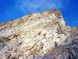 Via Normale Crozzon di Folgorida - Sotto il pendio di rocce rotte della vetta
