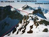 Via Normale Monte Venezia - Il Monte Venezia dal Monte Mandrone