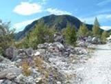 Via Normale Monte Altissimo -  Il versante Nord di Monte Altissimo visto dalla sterrata di servizio di antiche cave di marmo