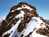 Via Normale Monte Braccia - La vetta dalla cresta SW