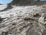 Via Normale Cima San Giacomo (da N) - La parte iniziale del ghiacciaio da risalire verso le rocce, attraversando poi verso sinistra