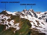 Via Normale Monte Caldenno - Il Monte Caldenno dal Sasso Bianco