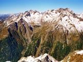 Via Normale Monte Combolo - Dalla vetta, a sinistra la Vetta di Ron, a destra il Painale