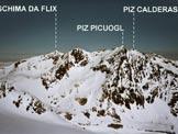 Via Normale Piz Surgonda - Panorama verso NW