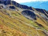 Via Normale Cima Vignone - La conca di Baric dalla cresta SW