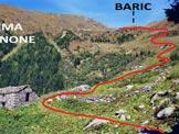 Via Normale Pizzo Bello - L'Alpe Vignone e l'itinerario per Baric