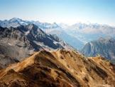 Via Normale Monte Scorluzzo - Filone del Mot - La cresta di salita dalla vetta