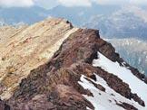 Via Normale Pizzo Bianco - In discesa sulla cresta WSW