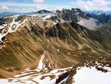 Via Normale Monte Braulio - A sinistra la B.tta di Forcola e la mulattiera