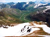 Via Normale Monte Braulio - In primo piano l'ampia dorsale E, dalla vetta