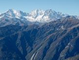 Via Normale Monte Loccia di Peve o Paver - Panorama dalla vetta : da sx  Weissmiess, Lagginhorn e Fletchorn