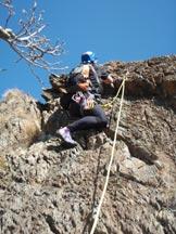 Via Normale Rocca Turchina - Via Miramare - in arrampicata lungo la via