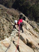 Via Normale Monte Rama - L´ affilato tratto finale della variante bassa.