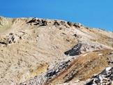 Via Normale Corn Suvretta - La cresta SE e a destra la Fuorcla Chamuotsch