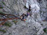 Via Normale Grigna Meridionale (trav.) - Sulle scale del Caminetto Pagani, lungo la Direttissima