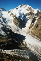 Via Normale Munt Pers - Il Pizzo Bernina, dal Munt Pers