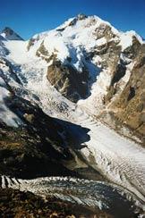 Via Normale Munt Pers - Il Pizzo Bernina, dal Munt Pers