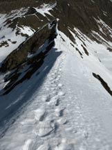 Via Normale Cima dei Siltri - Vista sulla cresta di salita