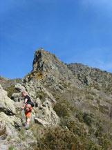 Via Normale Punta Martin-Cresta Federici - La Cresta in avvicinamento al Corno Stella.