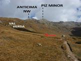 Via Normale Piz Minor - Dal sentiero di salita, a circa (q. 2240 m)