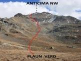 Via Normale Piz Minor - L'itinerario dal Plaun Verd