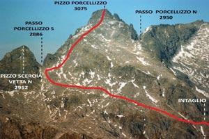 Via Normale Pizzo Porcellizzo