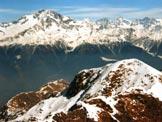 Via Normale Monte Lago - Panorama di vetta verso il Disgrazia e il Bernina