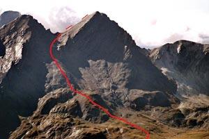 Via Normale Gletscherhorn