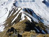 Via Normale Cima Vallocci - In discesa, prima del tratto ripido della cresta