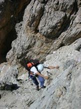 Via Normale Tofana di Mezzo - Ferrata Olivieri - Aglio - Tratto verticale