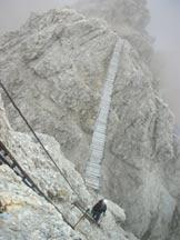 Via Normale Cristallo - Ferrata Ivano Dibona - Il ponte sospeso